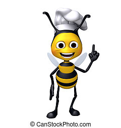 Bee chef attention pose