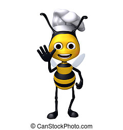 Bee chef decline pose
