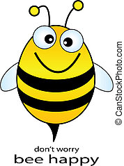 Bee happy vector illustration