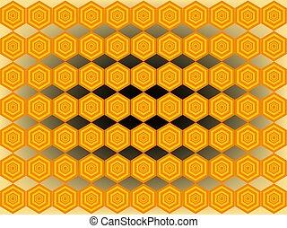 Bee hexagon pattern background
