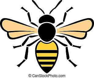 bee), (honey, abeille, icône