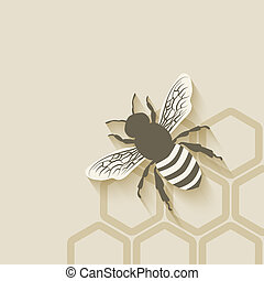 bee honeycomb background - vector illustration. eps 10