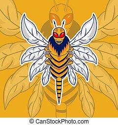 bee hornet vector mascot logo