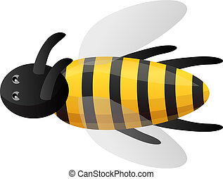 Bee icon, cartoon style
