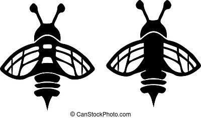 bee icon isolated on white background