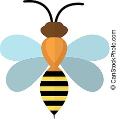 Bee icon. isolated on white background. Vector illustration