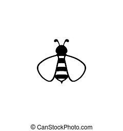 Bee icon logo.