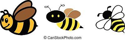 bee icon on white background