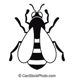 Bee icon, simple style
