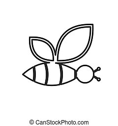 Bee icon. Vector concept illustration for design.