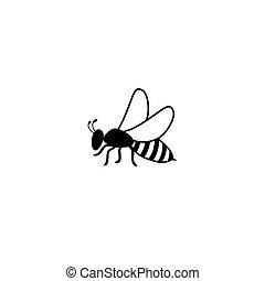 Bee icon, vector l