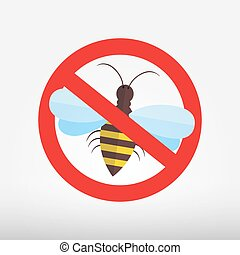 Bee icons - vector illustration.