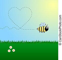 Bee in love