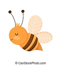 bee insect fauna farm animal cartoon background
