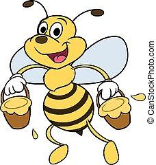 Bee is carrying honey 2