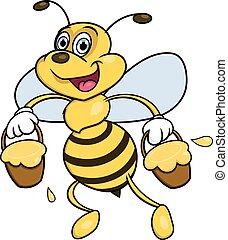 Bee is carrying honey