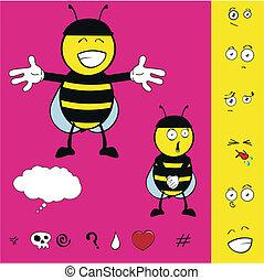 bee kid cartoon set6