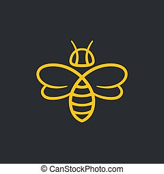 Bee Logo design - Bee or wasp logo design vector...