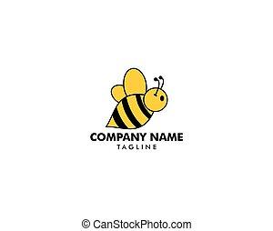 Bee logo icon vector template