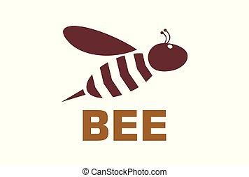 bee logo icon vector