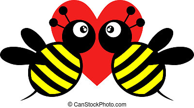 bee love icon - Creative design of bee love icon