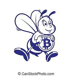 Bee miner keep gold bitcoin