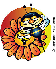 Bee on flower - This is jolly bee on yellow flower