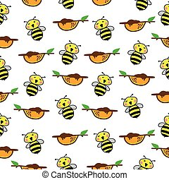 Bee Pattern Seamless background.