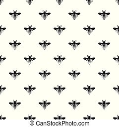 Bee pattern seamless vector