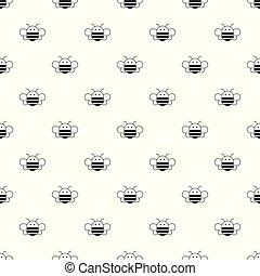 Bee pattern vector seamless