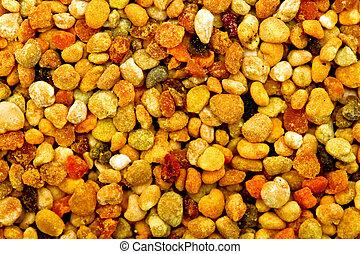Bee pollen macro - Big bunch of bee pollen granules texture...