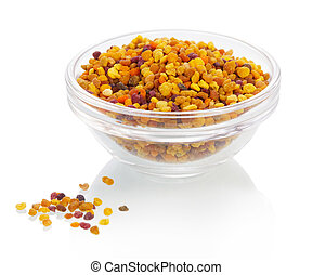 Bee pollen - The bee pollen isolated on white background