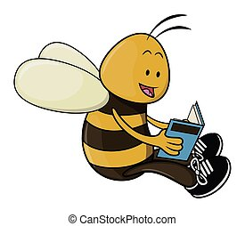 Bee read book