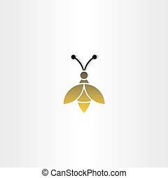 bee sign vector logo icon