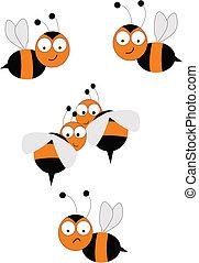 bee swarm on white