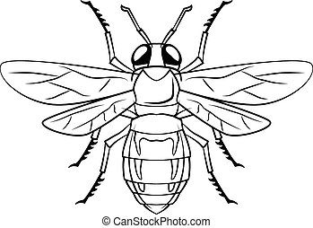Bee symbol illustration