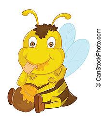 Bee Vector Cartoon Illustration