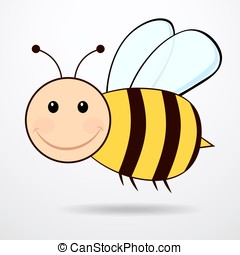 Bee - vector illustration.