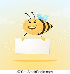 Bee with sign