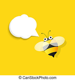 bee with speech bubble