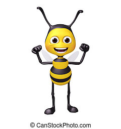 bee with strong pose
