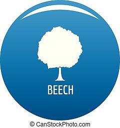 Beech tree icon blue vector
