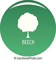 Beech tree icon vector green