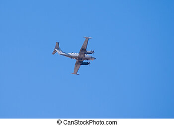 Beechcraft King Air plane in flight