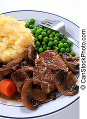 Beef and mushroom casserole dinner
