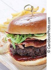 beef burger - burger in brioche bun