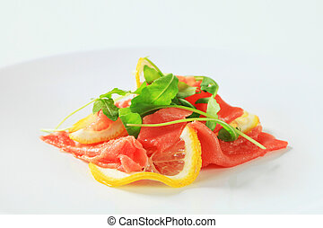 Beef Carpaccio with lemon