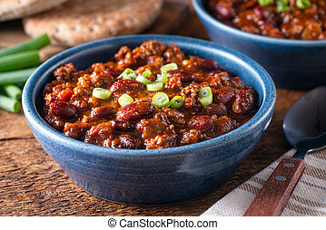 Beef Chili - Delicious homemade beef chili con carne with ...