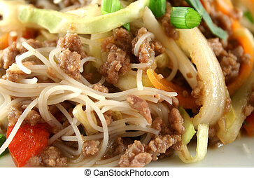 Beef Chow Mein 4 - Stirfry beef chow mein with fresh Chinese...