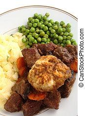 Beef dinner vertical